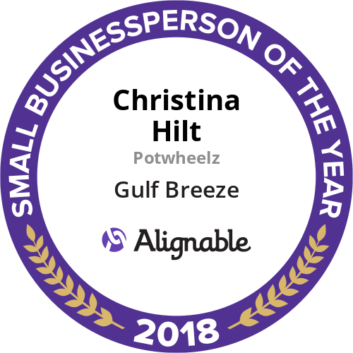 Potwheelz' Christina Hilt Named Gulf Breeze's 2018 Small Businessperson of the Year by Alignable