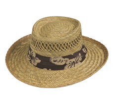 Goldcoast hat - Gambler with Hibiscus Band