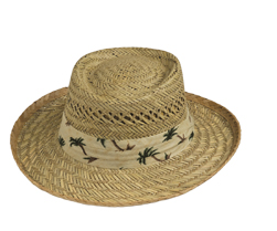 Goldcoast hats - Gambler with Palm Tree Band