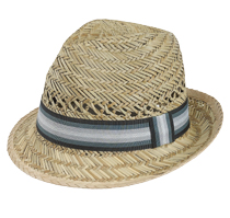 Goldcoast hat - Rush Fedora Black, Teal and Tan Band