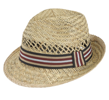 Goldcoast hat - Rush Fedora Red, Tan, Black & White Band