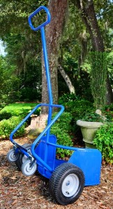 Industrial Potwheelz plant dolly - a plant dolly that would accommodate plant pots of various sizes. Order Potwheelz plant dolly!