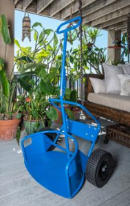 Industrial Potwheelz plant dolly - a plant dolly that would accommodate plant pots of various sizes.