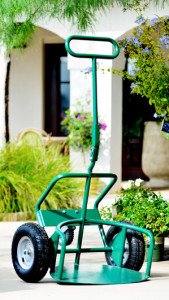 Potwheelz landscape hand truck frequently asked questions - standard green model for home gardeners.