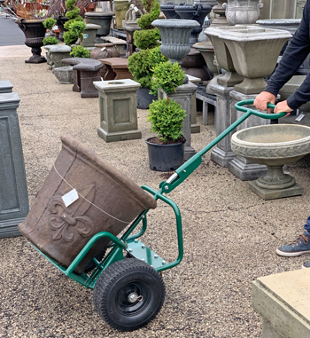 Potwheelz plant dolly now available in standard size for home gardener and for easy storage and transport of their plant dolly.